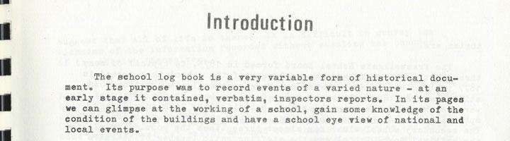 Extracts Framwellgate Moor Schools Log Books – Part 1