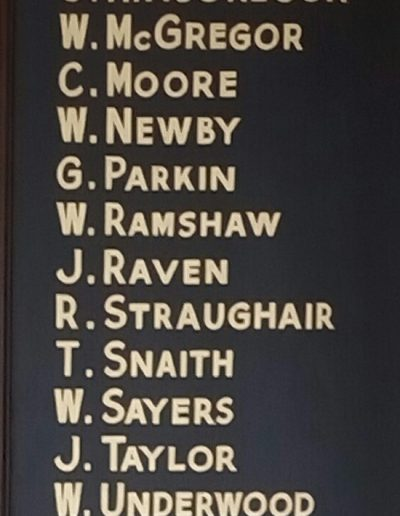 St Aidans Church RHS Framwellgate Moor 2nd list ww1 (1)
